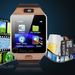 Smartwatch DZ09 Bluetooth cu SIM Rose Gold,